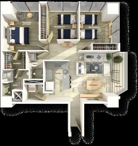 Piso de apartamento